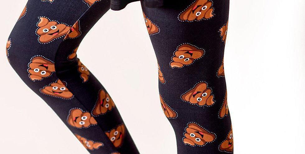 Poo Emoji Leggings