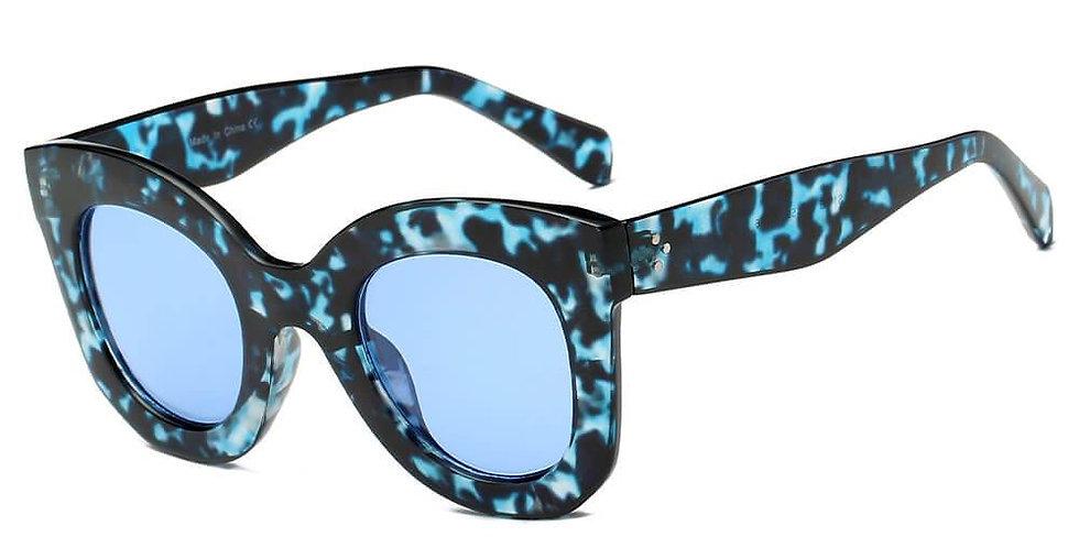 GETAFE   S1065 - Women Round Cat Eye Oversize Sunglasses
