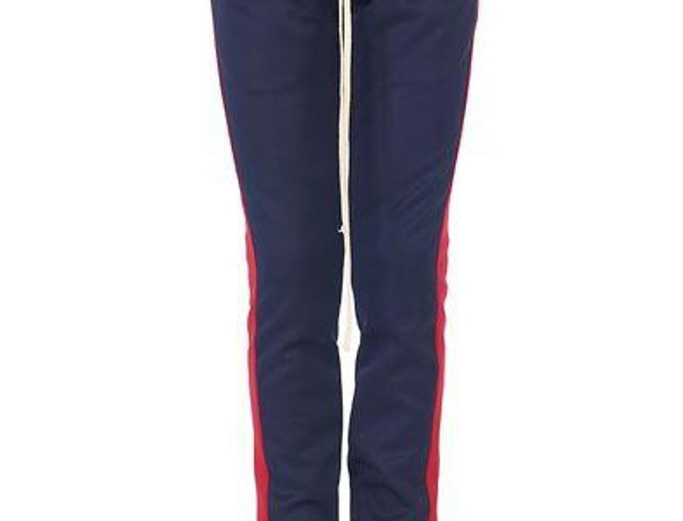 NAVY/RED-Track Pants