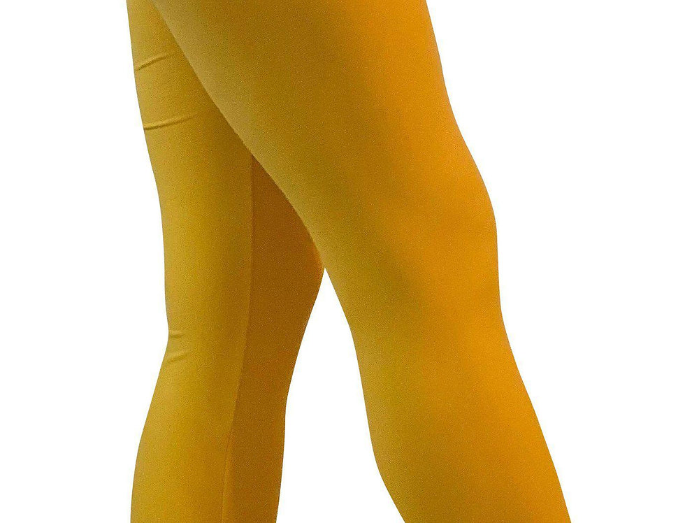 Soft Yellow Leggings (Medium Weight) - Regular Length