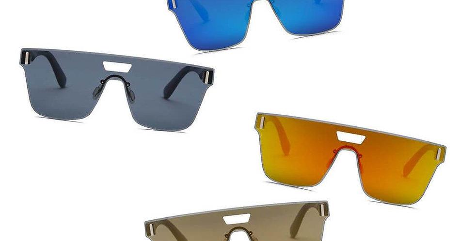 DEVON | S2075 - Unisex Retro Square Mirrored Sunglasses