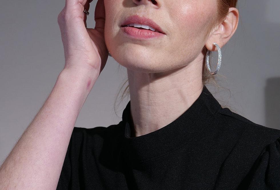 "Inside Out Hoop Earrings 1.25"""