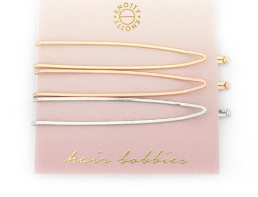 Switchback Hair Bobbies     Gold/Rose Gold/Rhodium