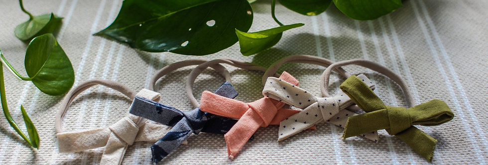 Matching Nylon Headband Bow (Boho Bell Dress)