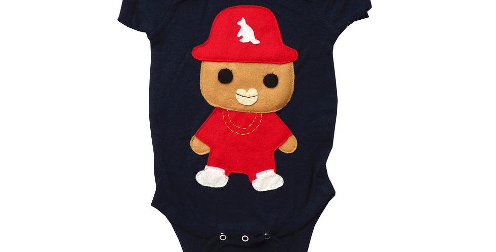 Baby Onesie - Rad Rapper - Red Kangaroo Hat