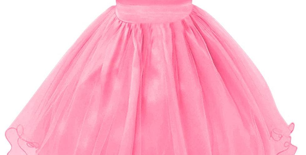Pink Girls Dresses - Flowers, Bow Tie, Formal, Bridal, Easter