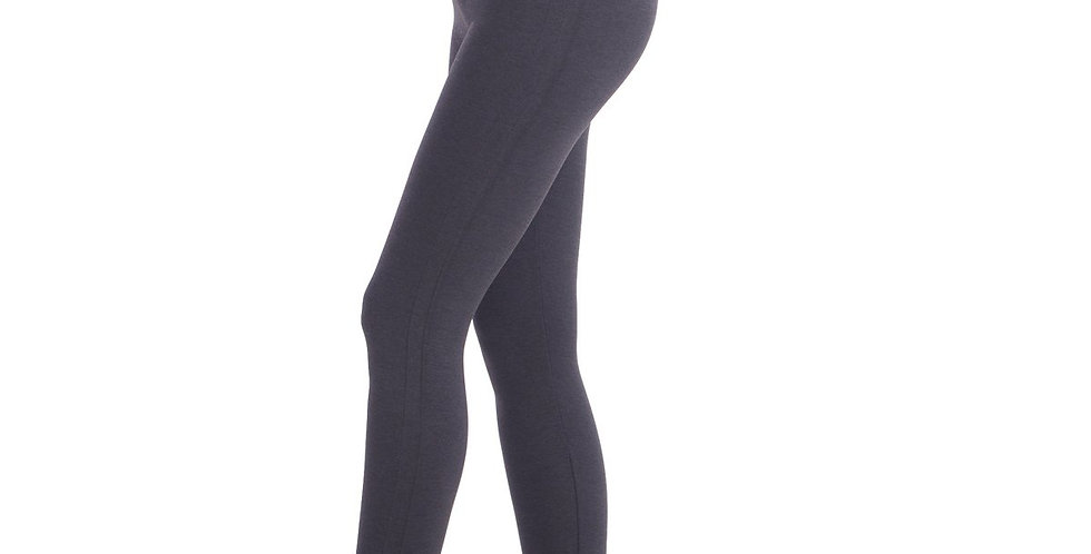 "New Full Shaping Legging With Double Layer 5"" Waistband - Grey"