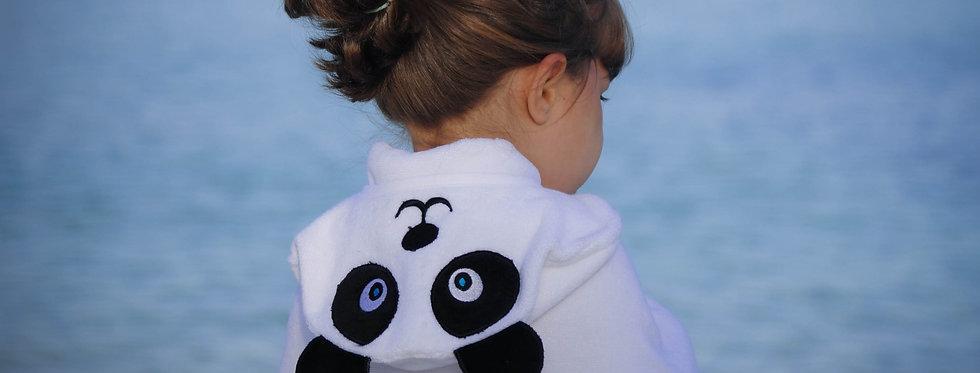 Panda Hooded Cotton Turkish Towel: Baby