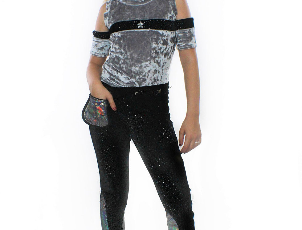 Ori Pants, With Pocketwist™. Glitter Stretch Velvet With Sleek Design.