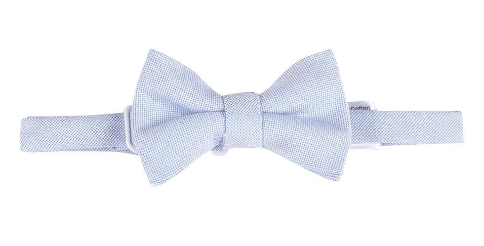 Blue Oxford Bowtie