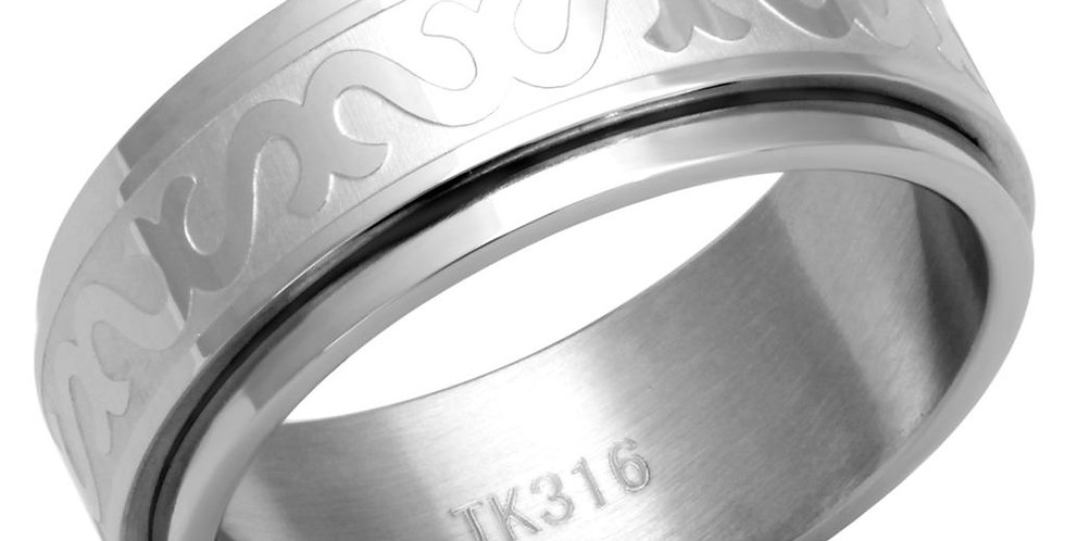 Men Stainless Steel No Stone Rings TK2941