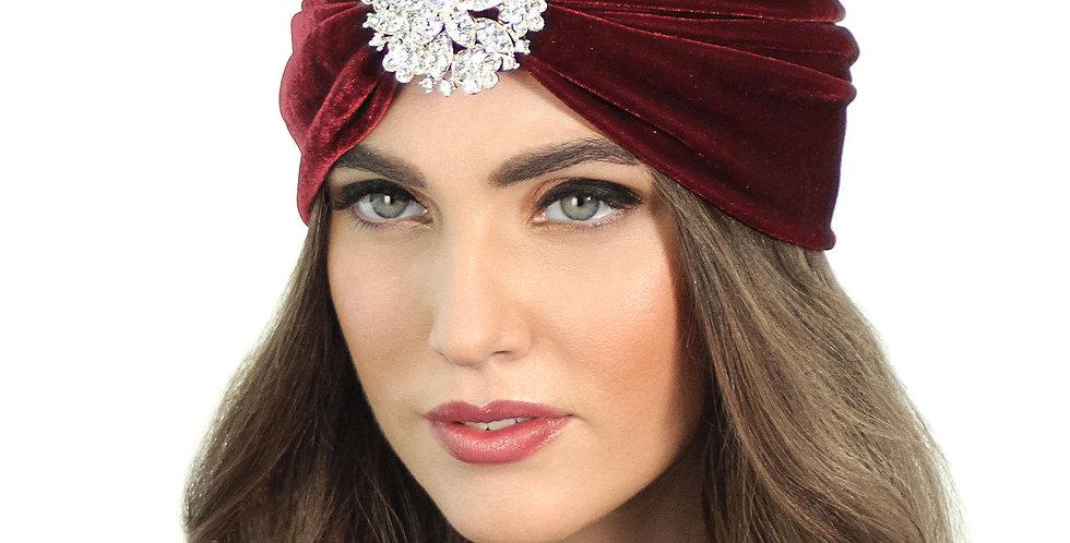 Crystal Floral Flapper Turban