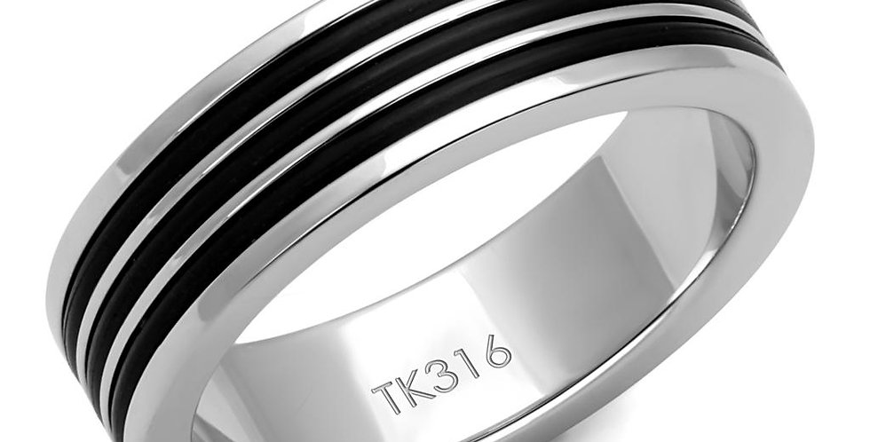 Men Stainless Steel Epoxy Rings TK2925