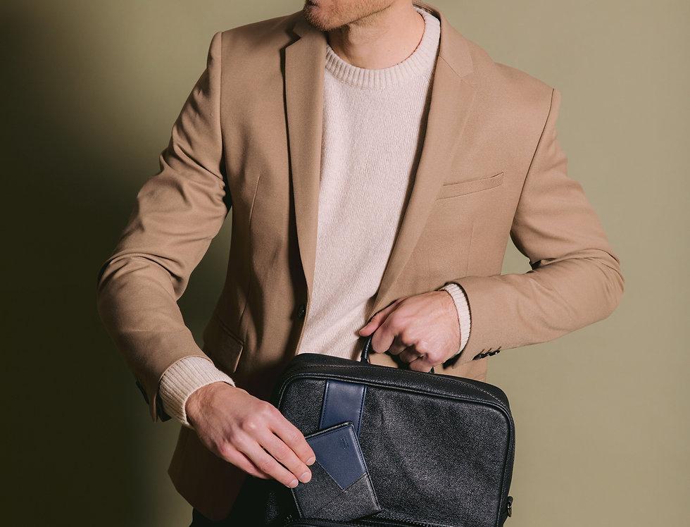 Woody - Gray Vegan Leather Wallet for Men