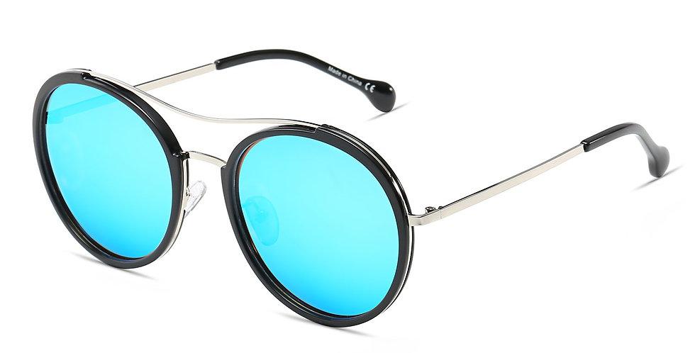 EMPORIA | CA14 - Retro Polarized Lens Circle Round Sunglasses