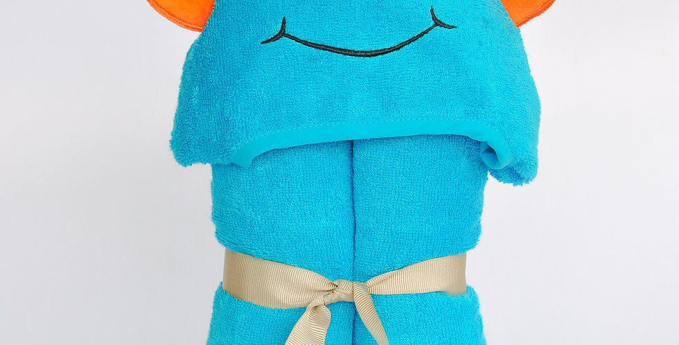 Bamboo Rayon Alien Hooded Turkish Towel:Little Kid