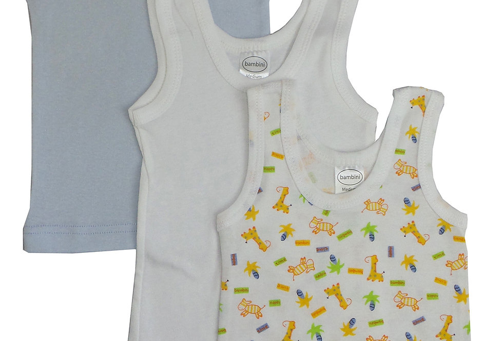 Boys Printed Tank Top Variety 3 Pack