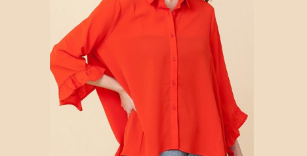 Wide Button Down -Orange