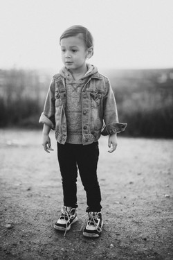 Dressed up kid Black and White