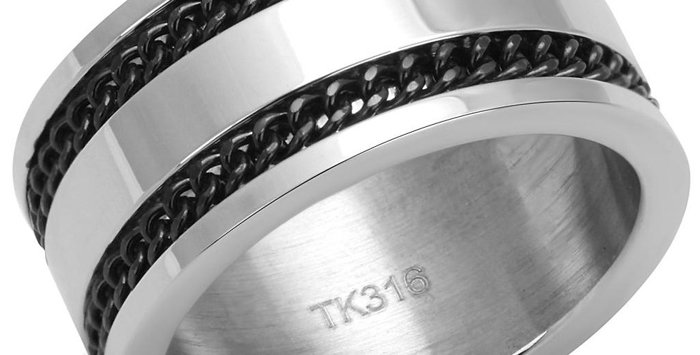 Men Stainless Steel Epoxy Rings TK2927