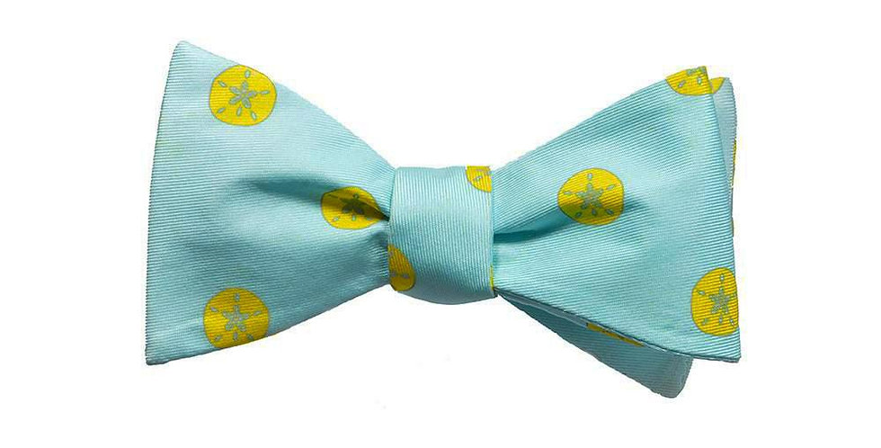 Sand Dollar Bow Tie - Printed Silk