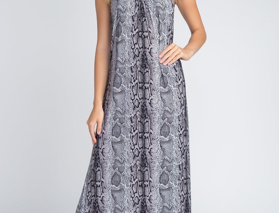 Women's Snakeskin Print Maxi Tank Dress