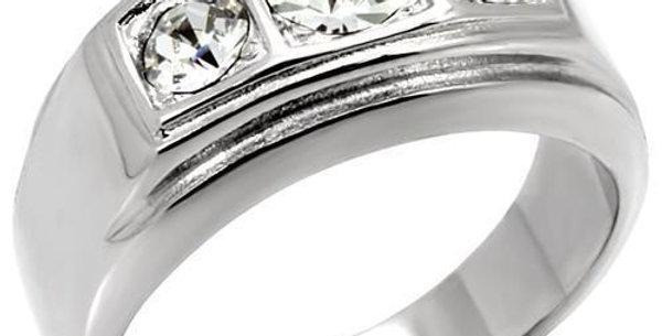 Men Stainless Steel Synthetic Crystal Rings TK119
