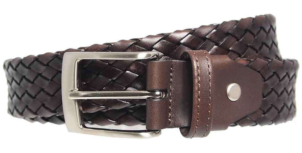 34 Mm Weave Belt Dark Brown