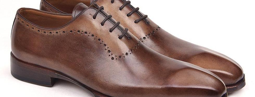 Paul Parkman Men's Antique Brown Oxfords (ID#AG444BRW)