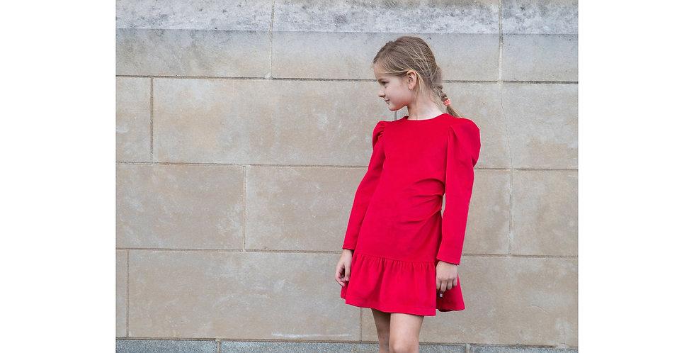 AW20/21 Ruby Red Velvet dress