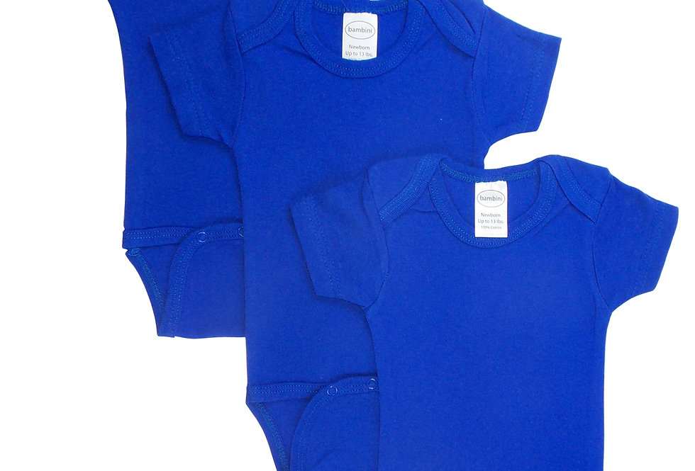 Blue Bodysuit Onezies (Pack of 3)