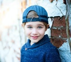 Blue eyes kid smiling