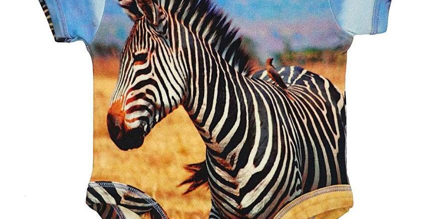 Bodysuit - Short Sleeve - Zebra