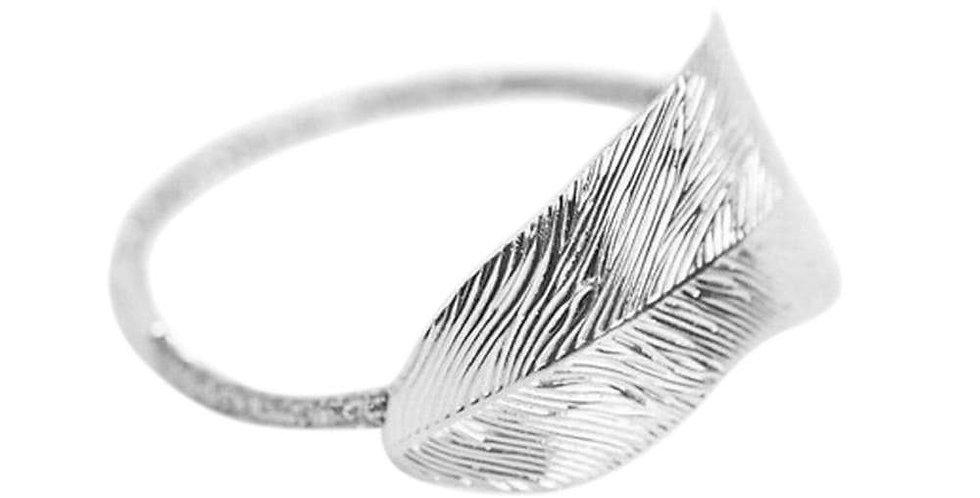 Leaf -Silver Hair Tie