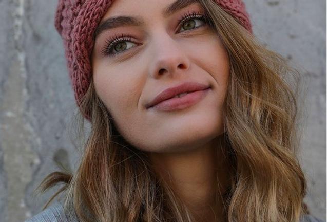 Pink Soft Bow Knit Headband