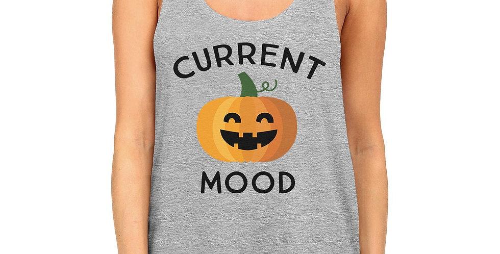 Pumpkin Current Mood Womens Grey Tank Top