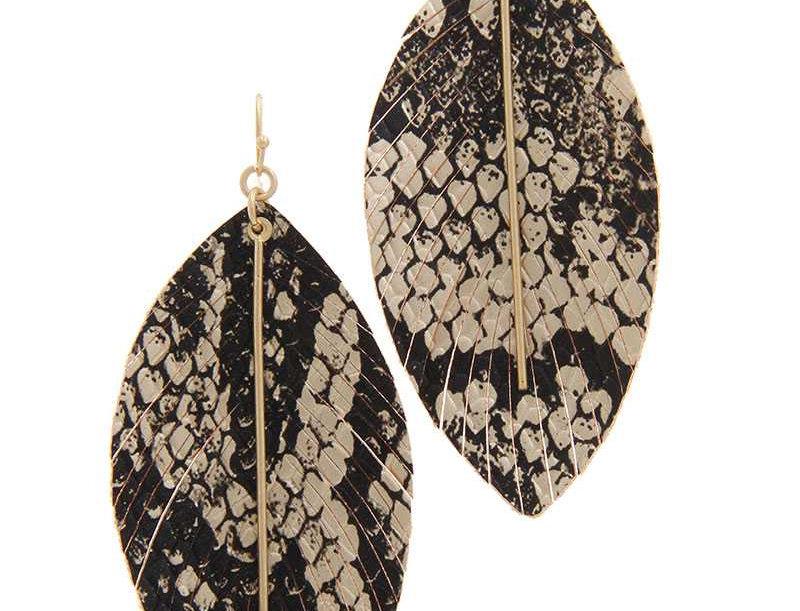 Snake Pattern Drop Earrings