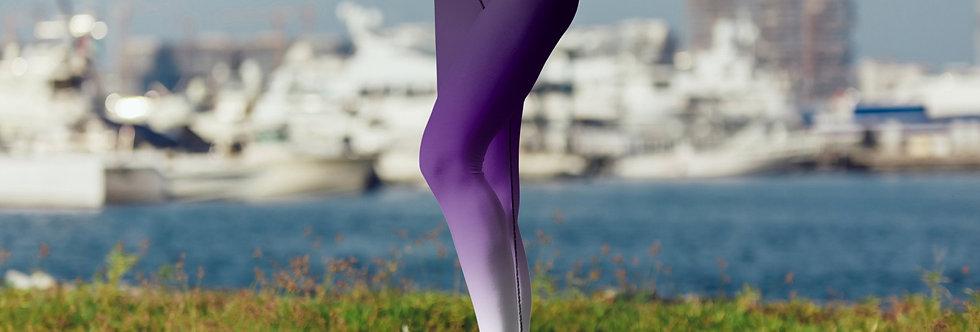 Purple Ombre Leggings, Capris and Shorts