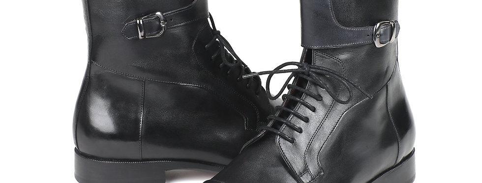 Paul Parkman Men's High Boots Black Calfskin (ID#F555-BLK)