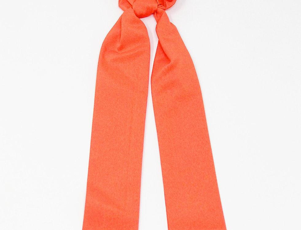 Color Pop Ponytail Scrunchie, Orange