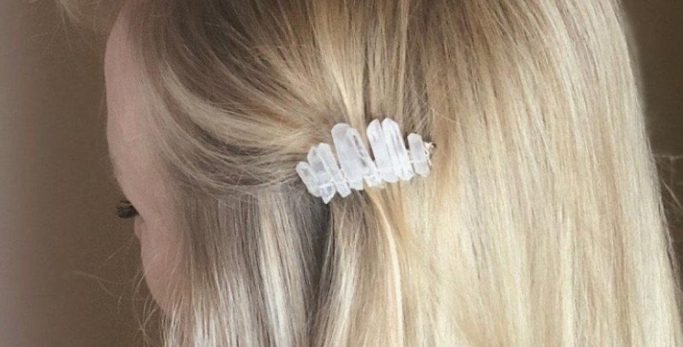 Kaitlin Hair Comb With Clear Quartz Crystal Points