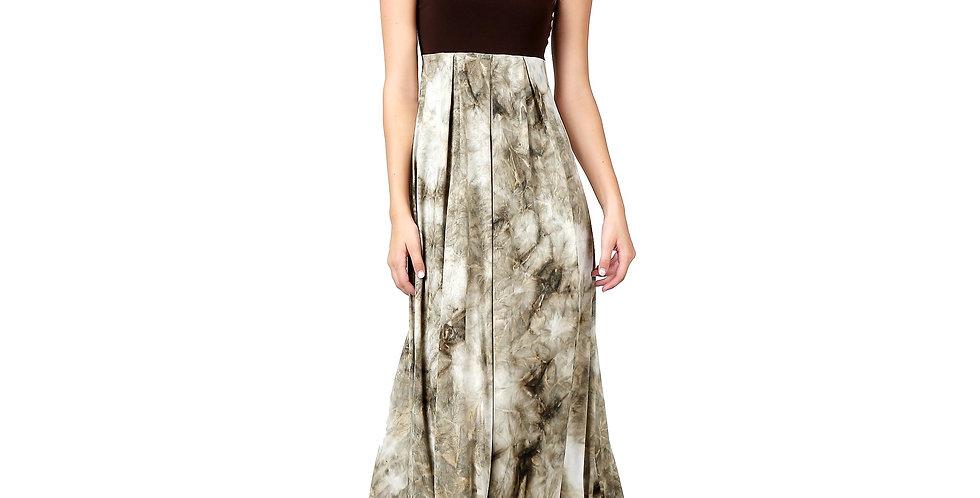 Evanese Women's Elegant Cocktail Strapless Tube Tie Dye Print Maxi Long Dress