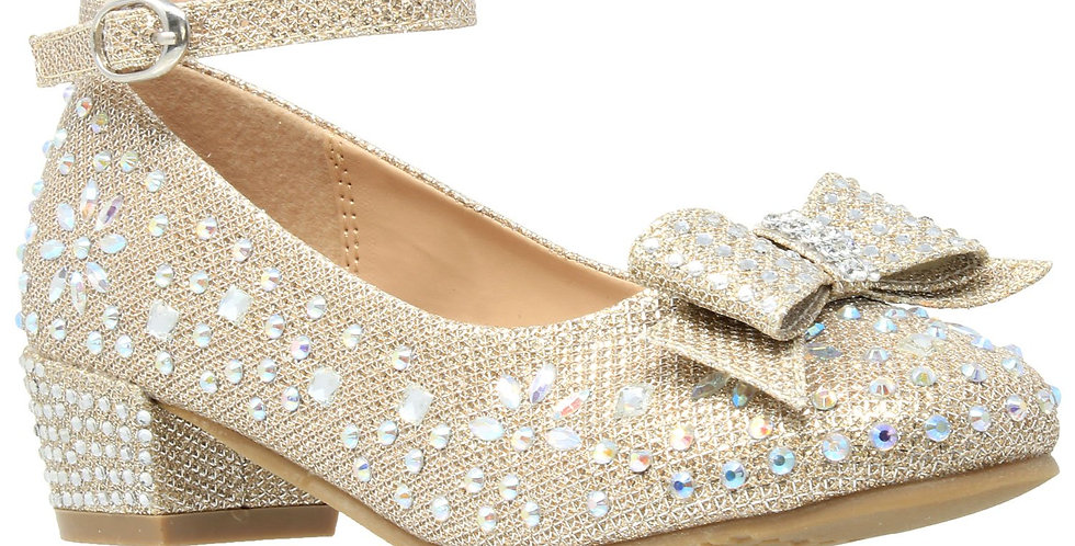 Toddler & Youth Glitter Bow Mary Jane Pump