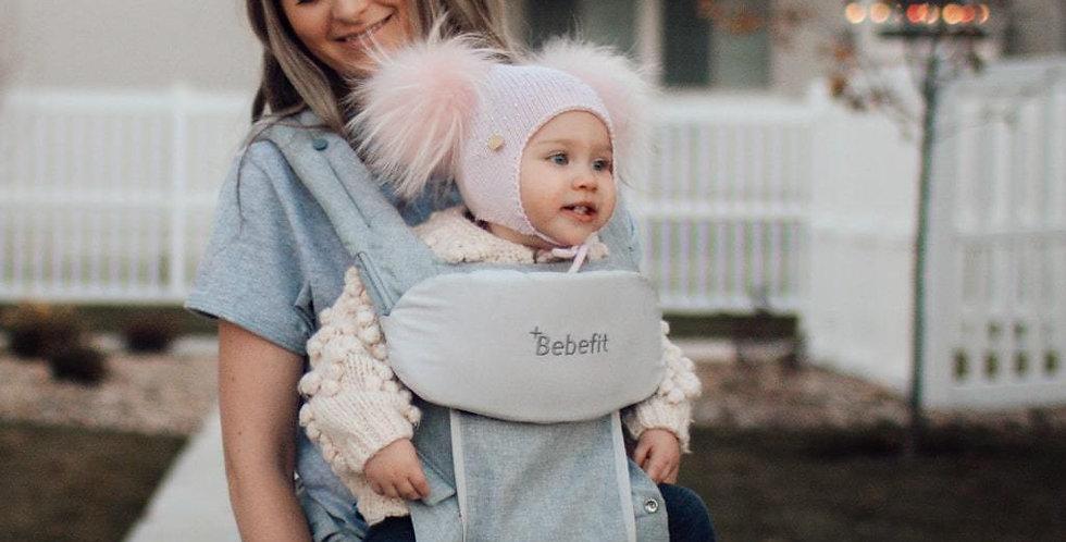Bebefit Convertible Hip-Seat Carrier | Light Gray