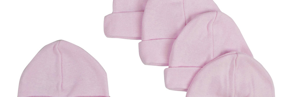 Pink Baby Cap (Pack of 5)