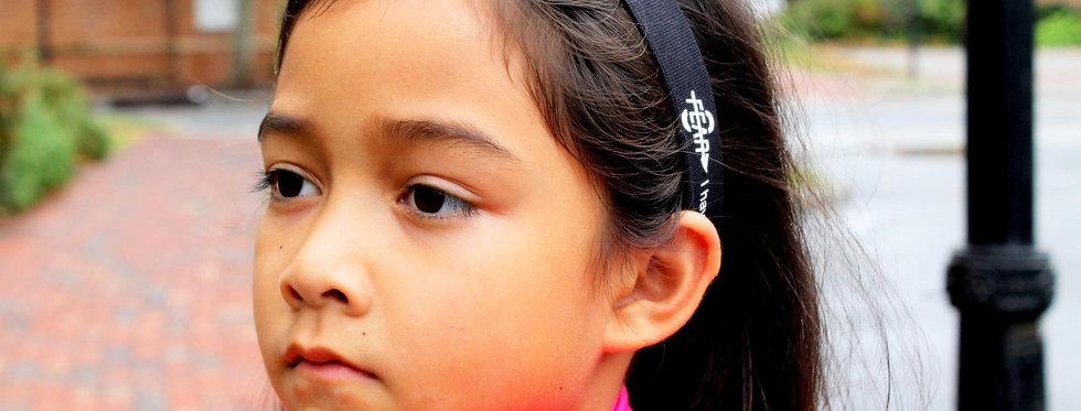 Fear0 Non-Slip Black White Sport Headbands for Women/Kids