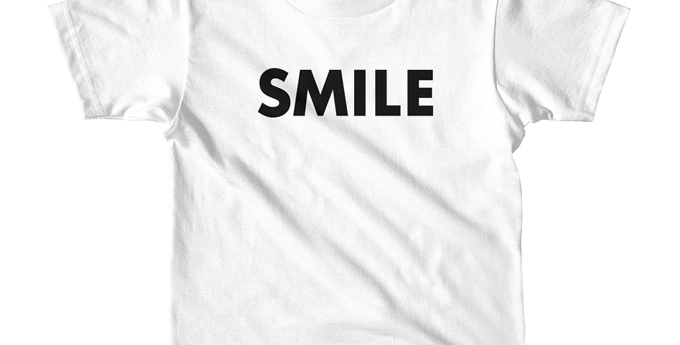 Smile White Short Sleeve Kids T-Shirt