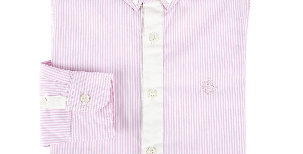 Pink Bengal Stripe Long Sleeve Button-Down Shirt