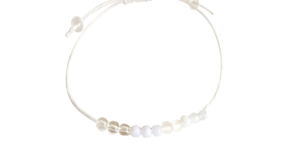 Aquamarine, Blue Lace Agate, Quartz & Rose Quartz Hemp Bracelet