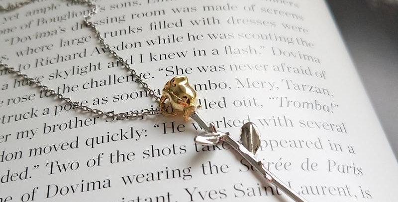 Azu Thorny Rose Pendant Necklace